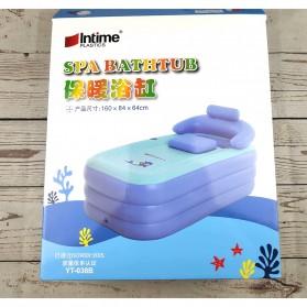 Intime Spa Bathtub Portable 160 x 84 x 64 cm dengan Pompa - YT-038B - Blue - 11