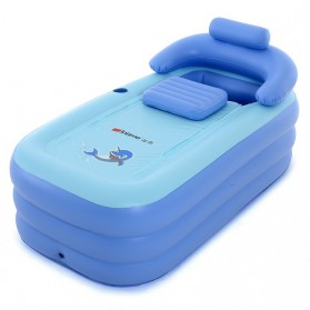 Intime Spa Bathtub Portable 160 x 84 x 64 cm dengan Pompa - YT-038B - Blue