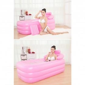 Intime Spa Bathtub Portable 160 x 84 x 64 cm dengan Pompa - YT-038B - Blue - 7