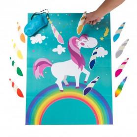 Poster Stiker Tempel Pin The Horn Unicorn - Multi-Color - 2