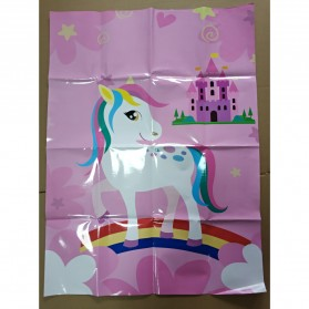 Poster Stiker Tempel Pin The Horn Unicorn - Multi-Color - 6