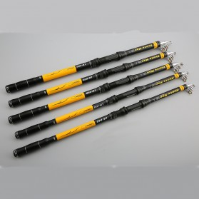 Hunts Man Joran Pancing Carbon Fiber Telescopic 2.1M - LW-210 - Black/Yellow