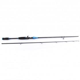 Kabinwang Joran Pancing Gun Handle Carbon Fiber 2 Segments 2.4M - Blue - 2