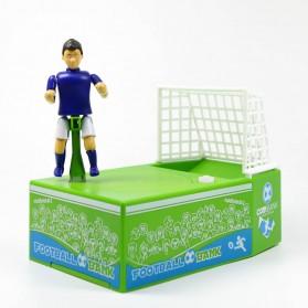 Celengan Koin Tendangan Penalti Pemain Sepak Bola - Green