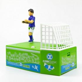 Celengan Koin Tendangan Penalti Pemain Sepak Bola - Green - 2