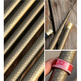 Joran Pancing Fiberglass Fishing Rod 2.7 Meter - Golden - 6