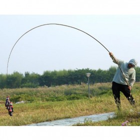 Joran Pancing Fiberglass Fishing Rod 3.6 Meter - Golden - 9