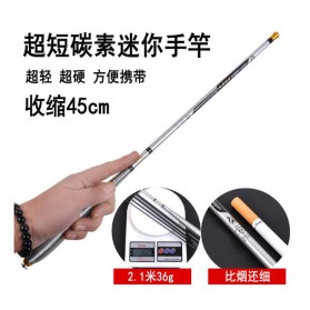 Joran Pancing High Carbon Fishing Rod 3.6 Meter - Silver - 3