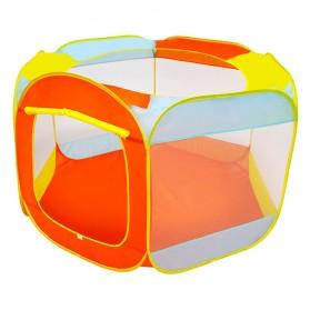 Kolam Bermain Mandi Bola Anak Foldable Pool Pit - Orange