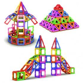 Mainan Mini Size Magnetic Blocks 3D Bricks 169PCS - Multi-Color