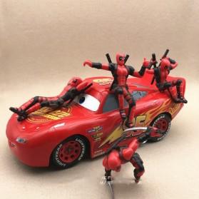 Action Figure Deadpool Marvel Series - Model 4 - Red - 9