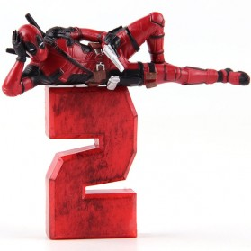 Mainan Action Figure - Action Figure Deadpool 2 Marvel Series - Model 1 - Red