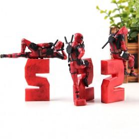 Action Figure Deadpool 2 Marvel Series - Model 1 - Red - 4