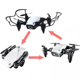 Quadcopter Drone Mini Pocket Foldable with WiFi FPV Camera - S9 - White - 4