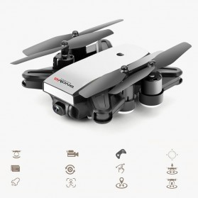 Elves Quadcopter Drone Dual GPS WiFi 720P Camera Remote - LH-X28GWF - White - 5