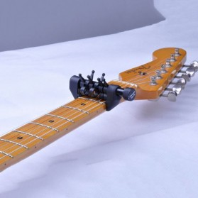 Black Flanger Flexi Capo Gitar Alternative Tuning - FA-20 - Black - 4