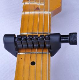 Black Flanger Flexi Capo Gitar Alternative Tuning - FA-20 - Black - 5