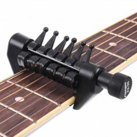 Black Flanger Flexi Capo Gitar Alternative Tuning - FA-20 - Black - 6