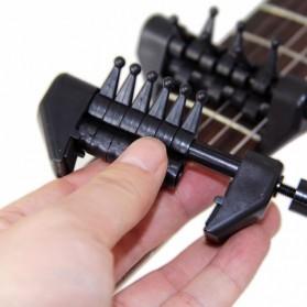 Black Flanger Flexi Capo Gitar Alternative Tuning - FA-20 - Black - 7