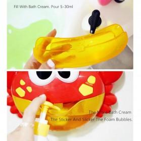 Bubble Crab Pembuat Gelembung Sabun Balon Otomatis dengan Musik - A0317 - Red - 2