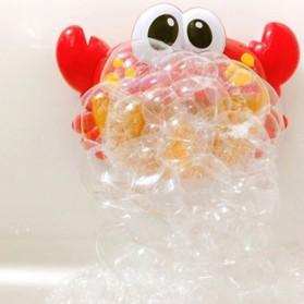 Bubble Crab Pembuat Gelembung Sabun Balon Otomatis dengan Musik - A0317 - Red - 3