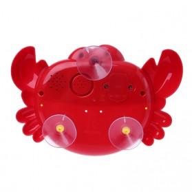 Bubble Crab Pembuat Gelembung Sabun Balon Otomatis dengan Musik - A0317 - Red - 7