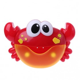 Bubble Crab Pembuat Gelembung Sabun Balon Otomatis dengan Musik - A0317 - Red - 9