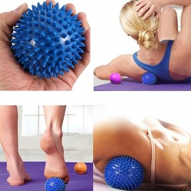 Squishy - Bola Pijat PVC Spiky Massage Ball Sport FItness 7.5cm - HA00681 - Blue