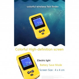 LUCKY Alat Pelacak Ikan Wireless Sonar Fish Finder Sonar - FF1108-CW - Yellow - 5