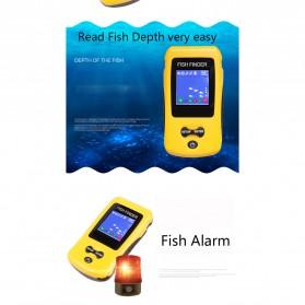 LUCKY Alat Pelacak Ikan Wireless Sonar Fish Finder Sonar - FF1108-CW - Yellow - 6