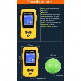 LUCKY Alat Pelacak Ikan Wireless Sonar Fish Finder Sonar - FF1108-CW - Yellow - 7