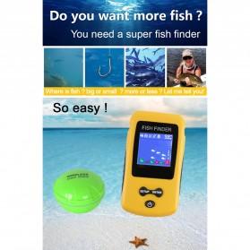 LUCKY Alat Pelacak Ikan Wireless Sonar Fish Finder Sonar - FF1108-CW - Yellow - 8