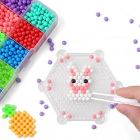 Yuanlebao Mainan Manik-Manik DIY Magic Mold Beads Puzzle 6000PCS - B24 - Multi-Color - 2
