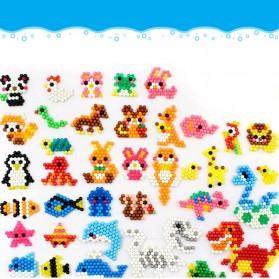 Yuanlebao Mainan Manik-Manik DIY Magic Mold Beads Puzzle 6000PCS - B24 - Multi-Color - 4