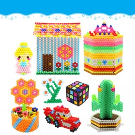 Yuanlebao Mainan Manik-Manik DIY Magic Mold Beads Puzzle 6000PCS - B24 - Multi-Color - 5