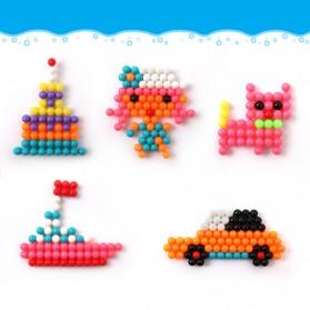 Yuanlebao Mainan Manik-Manik DIY Magic Mold Beads Puzzle 6000PCS - B24 - Multi-Color - 6