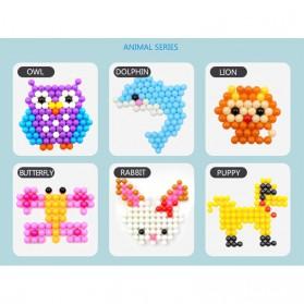 Yuanlebao Mainan Manik-Manik DIY Magic Mold Beads Puzzle 6000PCS - B24 - Multi-Color - 8