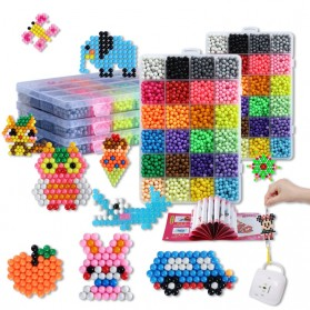 Yuanlebao Mainan Manik-Manik DIY Magic Mold Beads Puzzle 6000PCS - B24 - Multi-Color - 9