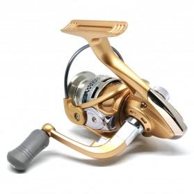 Fanshun Gulungan Pancing FB3000 Metal  Fishing Spinning Reel 10 Ball Bearing - Golden - 2
