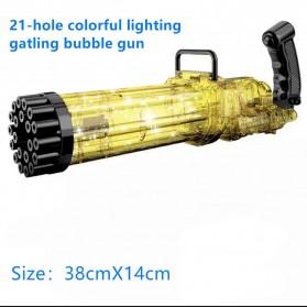 RoundCub Mainan Gelembung Sabun Automatic Bubble Water Gatling Gun 21 Holes - RC101 - Golden