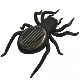 Educational Solar Spider Robot Insect Toy - Black