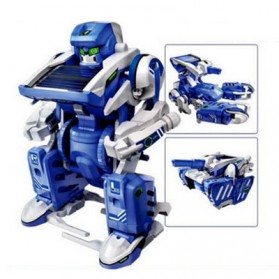 Educational 3 in 1 DIY Solar Robot Scorpion Tank Kit Toy - Blue/Gray