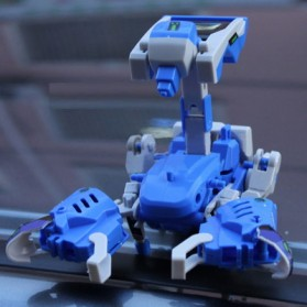 Educational 3 in 1 DIY Solar Robot Scorpion Tank Kit Toy - Blue/Gray - 3