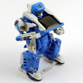 Educational 3 in 1 DIY Solar Robot Scorpion Tank Kit Toy - Blue/Gray - 4