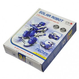 Educational 3 in 1 DIY Solar Robot Scorpion Tank Kit Toy - Blue/Gray - 7
