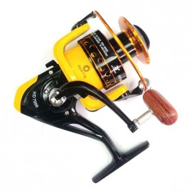 LIEYUWANG Reel Pancing HD7000 12 Ball Bearing - Black/Yellow