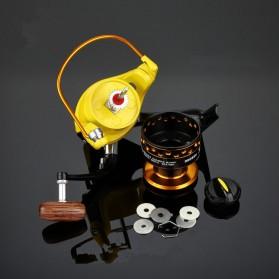 LIEYUWANG Reel Pancing HD7000 12 Ball Bearing - Black/Yellow - 4
