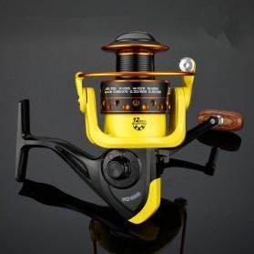 LIEYUWANG Reel Pancing HD6000 12 Ball Bearing - Black/Yellow - 4