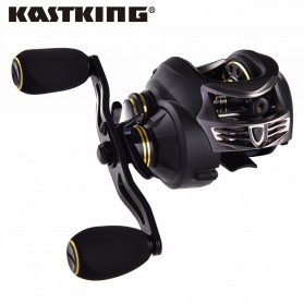 KastKing Stealth Super Light Carbon Body Reel Pancing 11+1 Ball Bearing - Tangan Kiri - Black