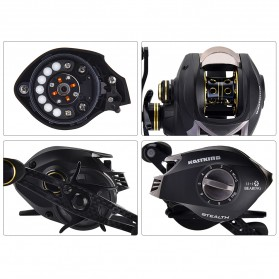 KastKing Stealth Super Light Carbon Body Reel Pancing 11+1 Ball Bearing - Tangan Kiri - Black - 8